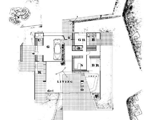 Styraciflua case study house entenza house for Case study houses floor plans