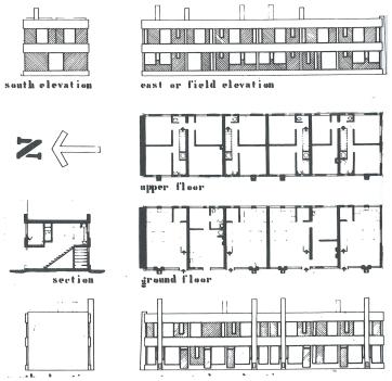 Galleon cottages: la vivienda en el pueblo
